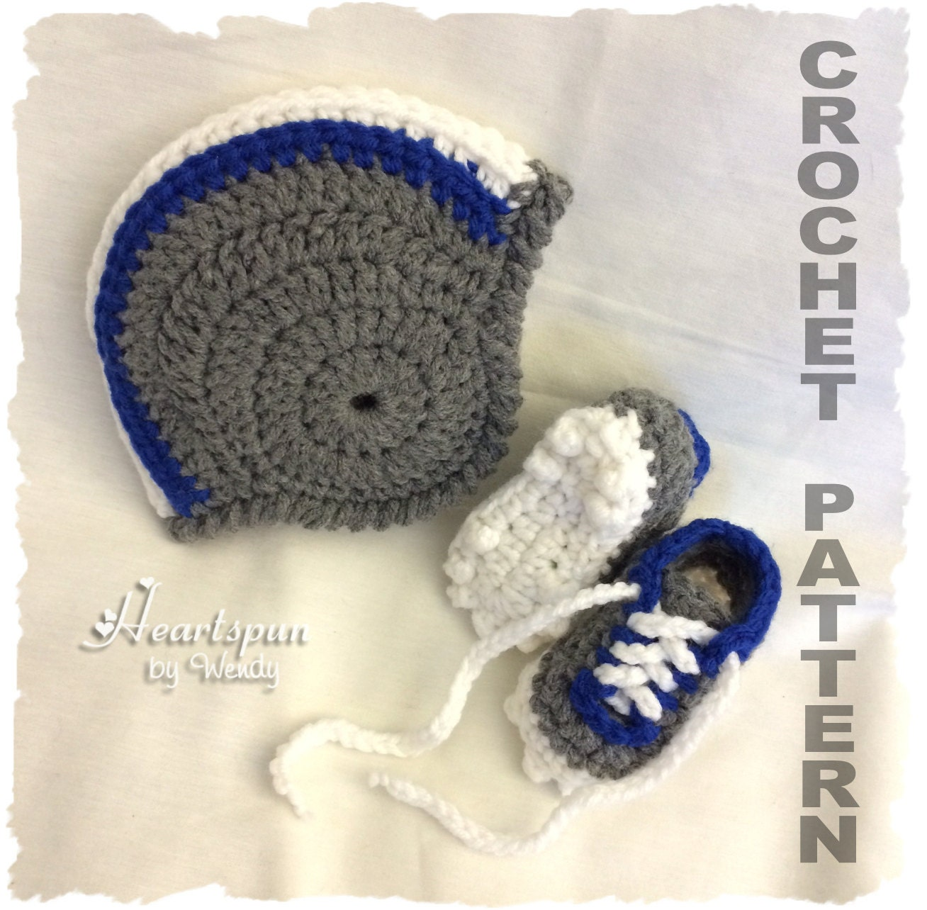 Crochet Pattern To Make A Football Helmet Baby Hat With Etsy