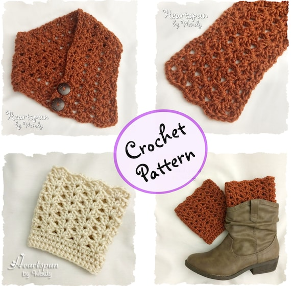 Crochet Pattern To Make A Climbing Shells Neck Warmer Or Scarf