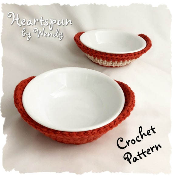 CROCHET PATTERN To Make A Round Microwave Bowl Cozy In 40 Etsy Classy Microwave Bowl Cozy Pattern