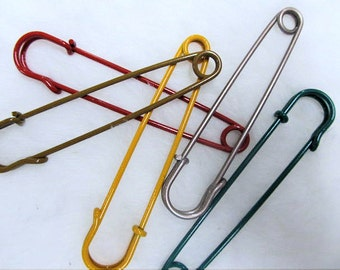 """2.5"""" colored kilt pins, steel pins large safety pins choose your quantity"""