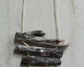 Minimalistic natural Driftwood Necklace