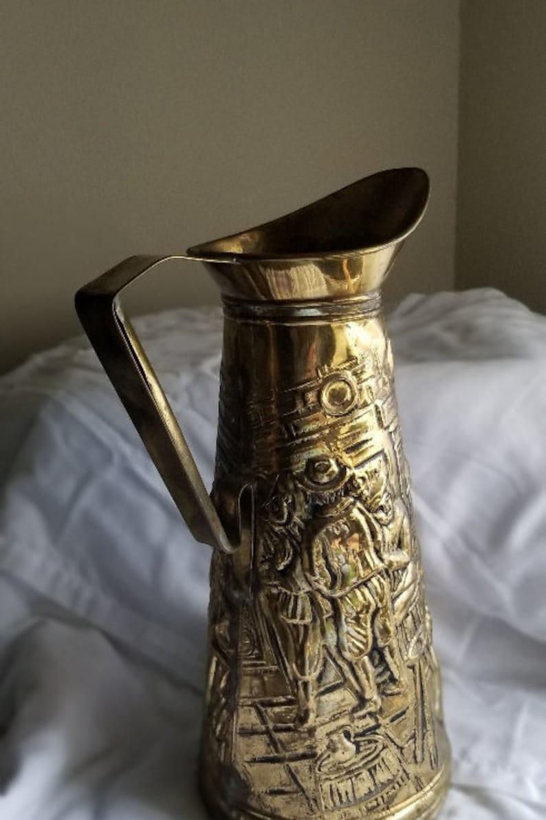 802-B10 English Pitcher 10 Copper Bottom Brass