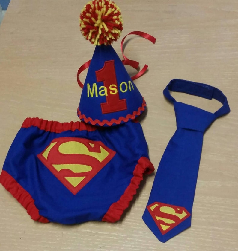 afd89b927 Superman cake smash outfit super hero first birthday outfit | Etsy