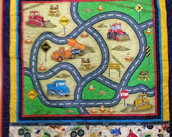 Quilted Construction Scene Play Mat