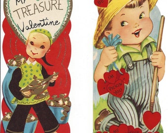 Sale Lot Of 3 Unused Vintage 1960s 70s Valentine Greetings Etsy