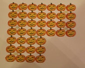 CUSTOM LISTING For Ray - Circa 1905 Antique German Die-Cut Halloween Jack-O-Lanterns - Pumpkins - 40 Pieces - UNUSED