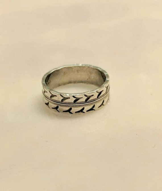 Vintage Silver Arrow Band 70s Unisex Size 6