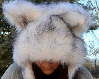 Wolf Scoodie. Spirit Hood.