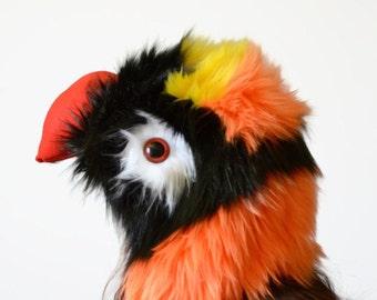 Dusky Lorikeet Scoodie. Spirit Hood. Parrot Costume. Bird Hat.