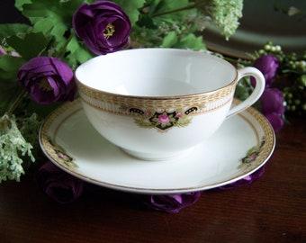 "Noritake ""Belmont"" Teacup and Saucer - Teacup and Saucer - Noritake Teacup and Saucer - Vintage Teacup and Saucer - Teaparty - Tea Time"