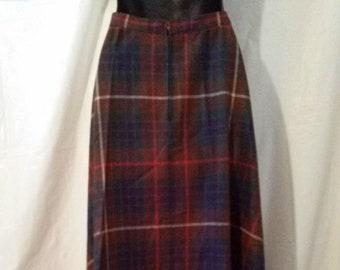 8142756d98 BIG HOLIDAY SALE-70s Vintage John Meyer-Plaid Wool Maxi Skirt-26