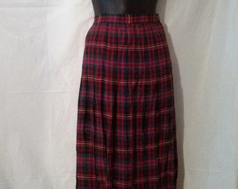 6c676250d BIG ESTATE SALE-60s Vintage Tartan Wool Plaid Full Circle Pleated Skirt-Size  14-High Waisted-Free Shipping-36