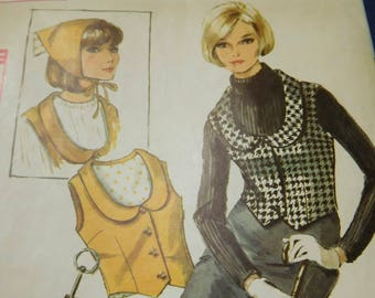 """Vintage 60's Simplicity 6241 Women's Accessories Vest~Spats~Scarf and Umbrella Case Bust 36"""""""