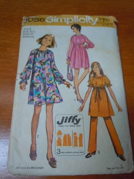 CUT See /& Sew 3407 Sewing Pattern Vintage