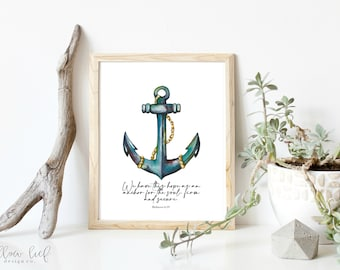Anchor Painting Etsy