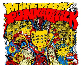 Mike Dillon's Punkadelick LEVY Summer 2021 AP Signed Screen Printed Gig Tour Poster 130lb Cougar Card Stock