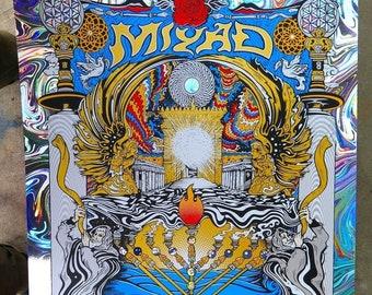 "MIYAD The Great Awakening Rainbow Swirl  Foil 18"" x 24"" Foil Screen Print Signed AP by LEVY"