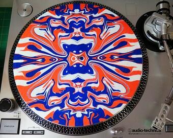 Psychedelic LE of 25 Blacklight Slipmat Slip Mat for Vinyl Records LEVY