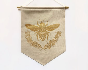 Honey Bee Banner in Natural *MADE TO ORDER