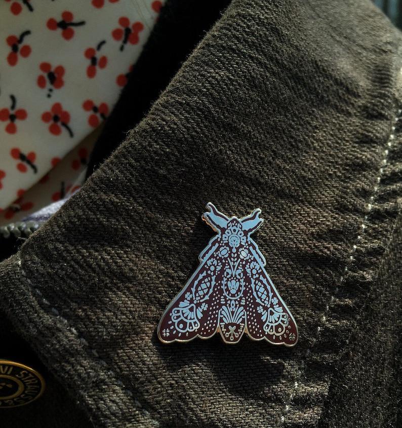 Moth Lapel Pin image 0