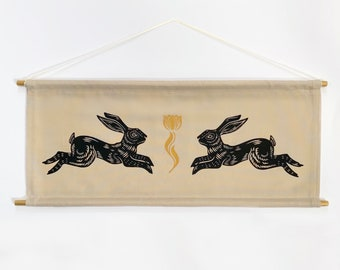 Rabbit Banner in Natural *MADE TO ORDER