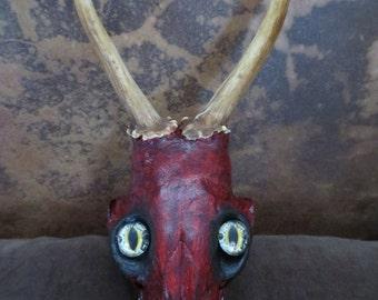 Chimaera Altered Skull Antlered Creature