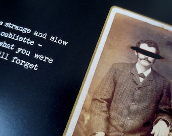 Gentlemen, Madmen, Things That Are Not Men - Signed Art Book - Polaroids - Antique Photos - Dark Rhymes