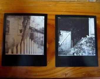 Set of Original Polaroid Art Photos - B&W Alley Snapshots - OOAK