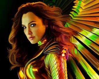 Wonder Woman Gold - 10x13 giclèe