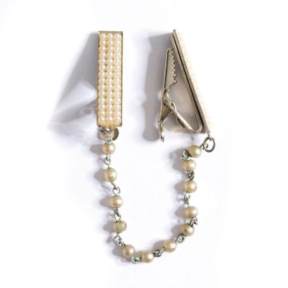 Vintage Pearl and Gold Sweater Guard