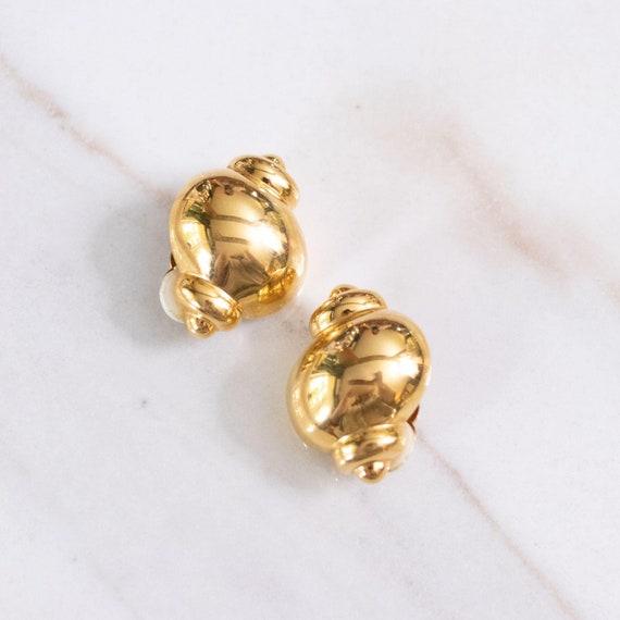 Joan Rivers Gold Urn Earrings - image 1