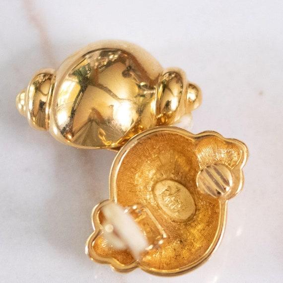 Joan Rivers Gold Urn Earrings - image 3