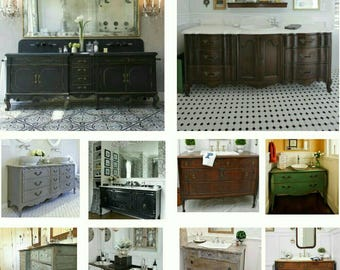 Vintage Dresser Vanity Conversion. Custom Vanity Bathroom Vanity Found And  Converted By Foo Foo La La *** LABOR ONLY***