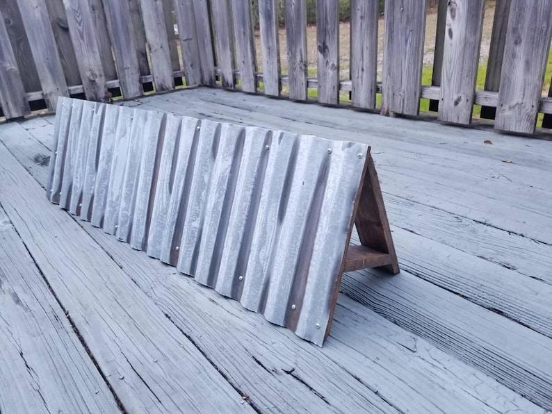 Rustic Galvanized Metal & Wood Awning Window Valance ...