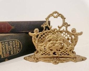 Victorian Vintage Brass Letter Holder Found by Foo Foo La La