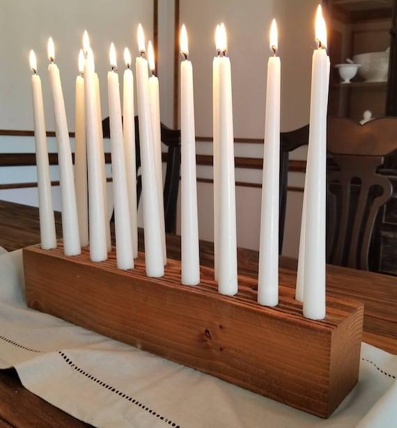 Candle Holder Candlesticks Wood Candle Holder Center Etsy