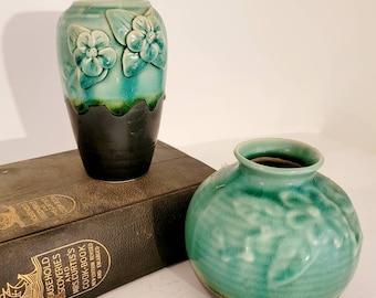 Vintage Porcelain Ceramic vase set, Set of 2 vases, Wedding decor, Table Scape found by Foo Foo La La