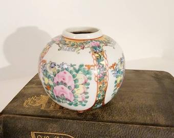 Vintage Ceramic Small Asian vase, Floral Porcelain Vase, Wedding decor, Made in China Flower vase found by Foo Foo La La