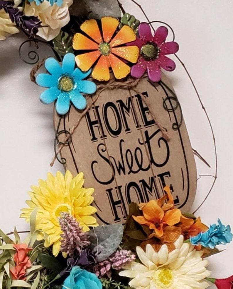 Home Wreath Front Door Wreath Summer Grapevine Wreath for Front Door Summer Wreath for Front Door, Custom Door Wreath