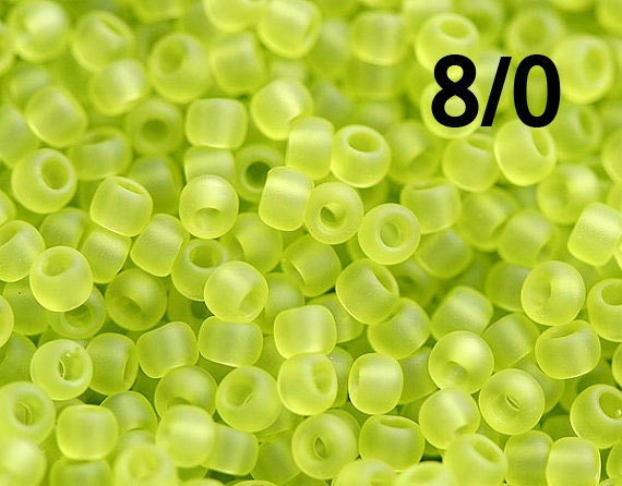 Bright Japanese Glass Round Seed Beads Size 80 x 10g TOHO Seed Beads Frosted Cantaloupe Orange Opaque