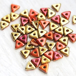25mm Brushed Silver Copper Triangle Spacer Beads 1 piece