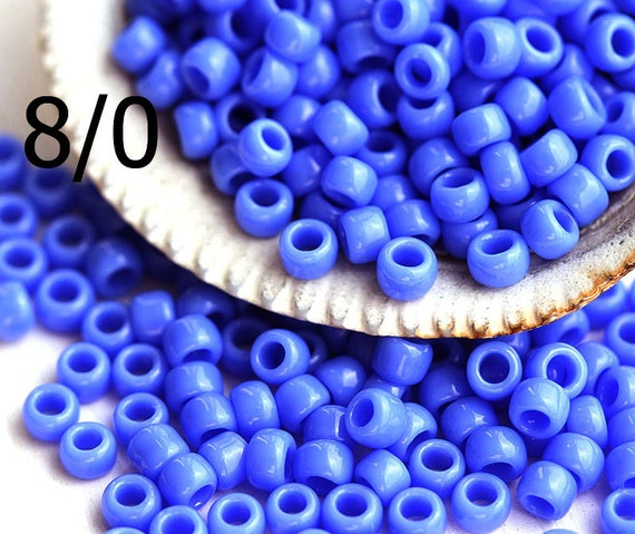 10g Opaque Periwinkle Blue TOHO Seed Beads 8//0-48L