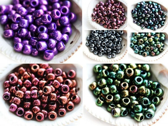 10g Rainbow-Frosted Lt Tanzanite Purple TOHO Seed Beads 6//0-166DF