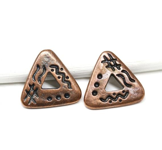 Metal Mini Spiral Clips 25//Pkg-Antique /& Copper