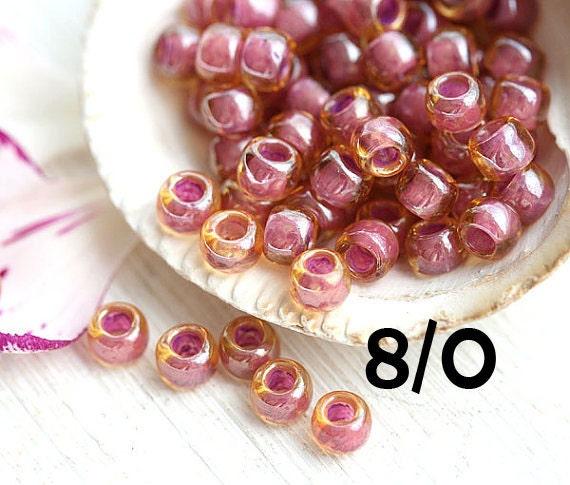 10g Lt Topaz Pink-Lined TOHO Seed Beads 6//0-960