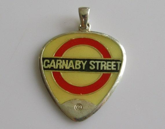 Sterling Silver Enamel Carnaby Street Guitar Pick