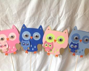 Owl Baby Shower Centerpiece  4-piece set