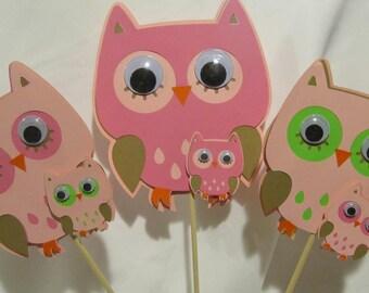 Owl Baby Shower Centerpiece  3-piece set