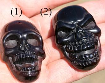 Natural Smoky Quartz Skull Pendant Bead, J1203