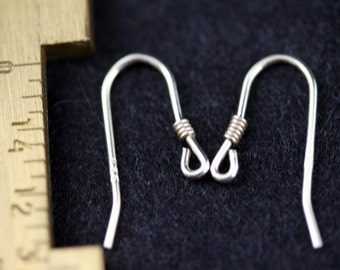 Sterling Silver 925 Earwire 20 Gauge(0.81mm) With Coil 13x20mm